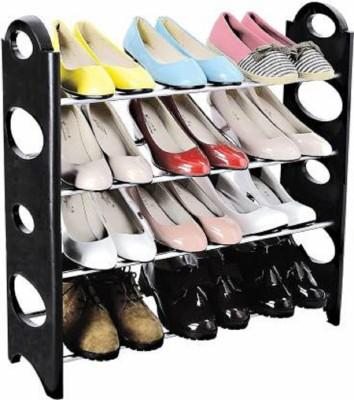 Flipkart Perfect Homes Studio Plastic Collapsible Shoe Stand(Black, 4 Shelves, DIY(Do-It-Yourself))