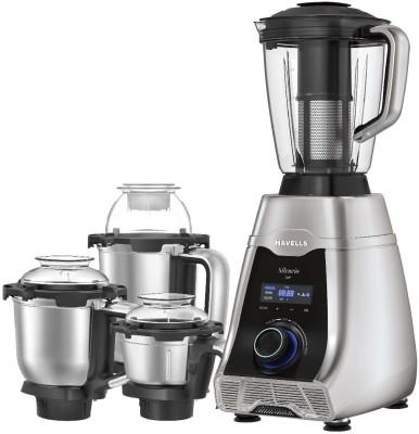 HAVELLS NA Silencio 500 W Mixer Grinder (4 Jars, Grey, Black)
