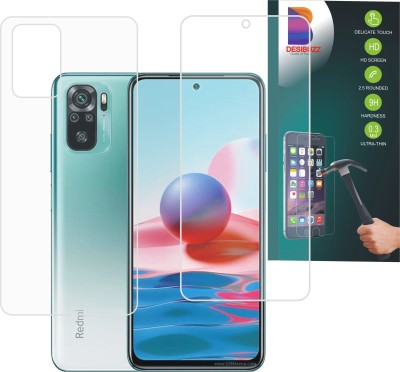 DESIBUZZ Front and Back Screen Guard for Mi Redmi Note 10, Redmi Note 10(Pack of 2)