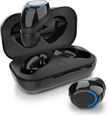 Callmate TrueAir Bass (TWS Buds) Touch Sensor Earbuds | IPX5 Bluetooth Headset(Black, Blue, True Wireless)