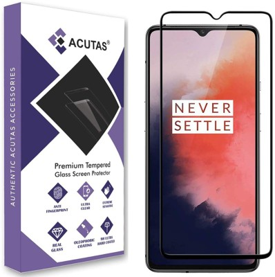 ACUTAS Edge To Edge Tempered Glass for OnePlus 7T(Pack of 1)