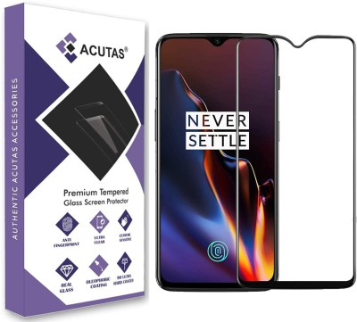 ACUTAS Edge To Edge Tempered Glass for OnePlus 6T/OnePlus 7(Pack of 1)