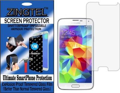 ZINGTEL Tempered Glass Guard for SAMSUNG GALAXY S5  I9600   Flexible, Unbreakable  Pack of 1 ZINGTEL Screen Guards