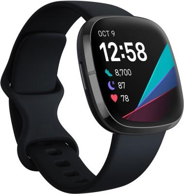 FITBIT Sense Smartwatch(Black Strap, Regular)