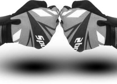 Leosportz Cycling Fingerless Gloves Breathable Half Finger Non-Slip Shock-Absorbing Gym & Fitness Gloves(Black, White)