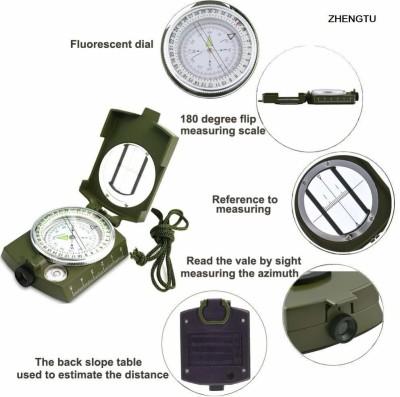 Fancyku Professional Multi function Military Army Metal Waterproof Compass (Green) Compass(Green)