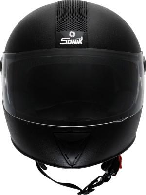 SONIK G-Sports Gold 02MB Motorbike Helmet(Black)
