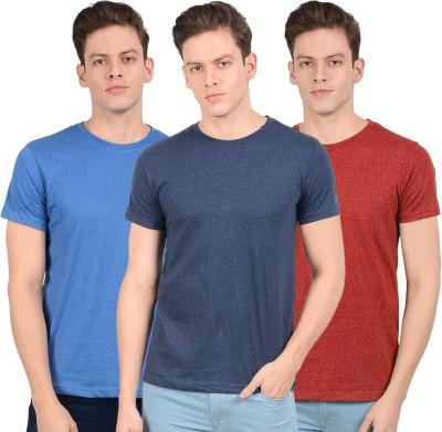 SCOTT INTERNATIONAL Solid Men Round Neck Multicolor T-Shirt(Pack of 3)