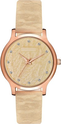overrules new stylish golden yellow leather strap woman watch Analog Watch   For Women overrules Wrist Watches