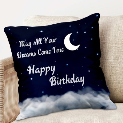 ME&YOU Microfibre Quotes Cushion Pack of 1(Multicolor)