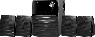 I Kall IK 403 Multimedia 4.1 Speaker System with Bluetooth, Aux, USB, FM Connectivity 60 W Bluetooth Home Theatre(Black, 4.1...