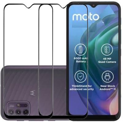 KARTRAY Edge To Edge Tempered Glass for Motorola G10 Power, Motorola G30, Motorola E7 Plus, Motorola E7 Power, Motorola G9(Pack of 2)