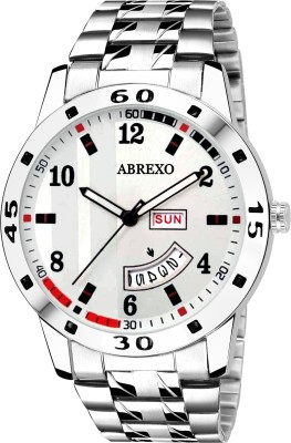 ABREXO Abx2070 WH WHITE Dial Silver Bracelet Day   Date Functioning Watch For Boys Analog Watch   For Boys ABREXO Wrist Watches