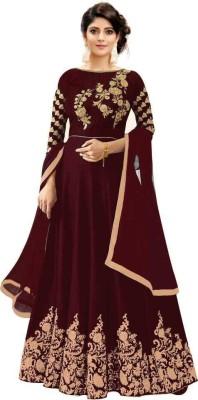 R&H COMAPANY Anarkali Gown(Maroon)