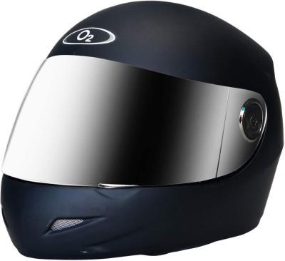 O2 PRO Full Face Helmet with Scratch Resistant Mercury Visor, Cross Ventilation Motorbike Helmet(Matt Black)