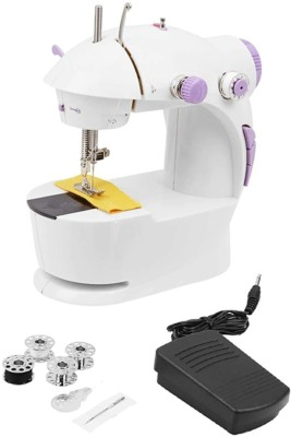 Mw Mall India Multi Electric Mini 4 in 1 Desktop Functional Household Sewing Machine, Mini Sewing Machine, Sewing Machine for Home Tailoring, Mini Sewing Machine for Home Electric Sewing Machine( Built-in Stitches 45)