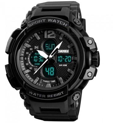 SKMEI Black Latest Designer Watch Water Shock resistance Analog Digital Watch   For Men SKMEI Wrist Watches