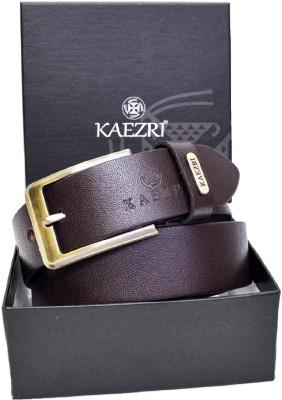 KAEZRI Men Evening, Party, Formal, Casual Brown Genuine Leather Belt