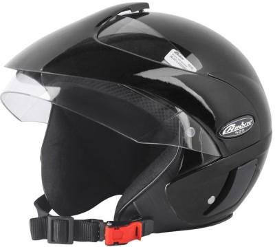 4U SUPREME RB 580 Half Face ISI Marked 100% ABS with Unbreakable Visor Bike Helmet Motorbike Helmet(Black)
