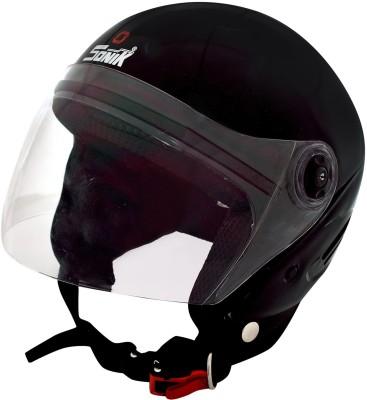 SONIK G-7 01B Motorbike Helmet(Black)