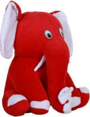 NKL Stuffed CUITE ELEPHANT FOR BABY TOY 30CM   30 cm Red NKL Soft Toys