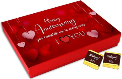 Midiron Anniversary gift for husband, Anniversary gift for wife, wedding anniversary gift for husband special, chocolate anniversary gifts (144g) Fudges(144 g)