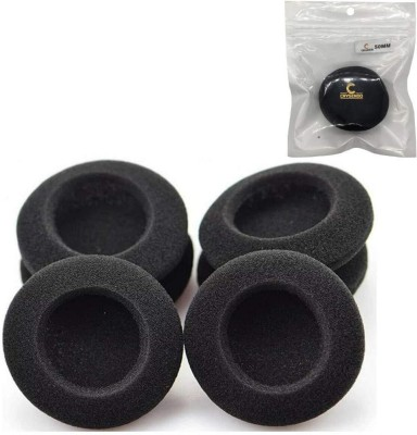 Crysendo Black Foam Sponge Earbud Eartips Cushion Pads for Headphone Pack Of 6Pcs Size 55mm Over The Ear Headphone Cushion(Pack of 6, Black)