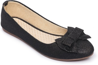 Midsole Bow Accent Upper Bellies For Women(Black)