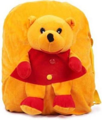 PRS School Bag POOH, Plush bag Nursery Kids, Soft Fur   14 inch Yellow PRS Soft Toys