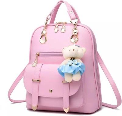prakashgarments Double Buckle Bagpack 10 L Backpack(Pink)