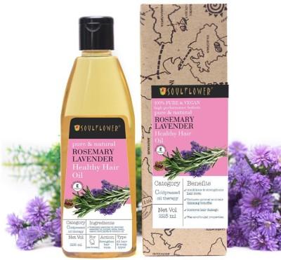 Soulflower Rosemary Lavender Healthy Hair Growth Oil Hair Oil| For Strong Healthy Hair Hair Oil(225 ml)