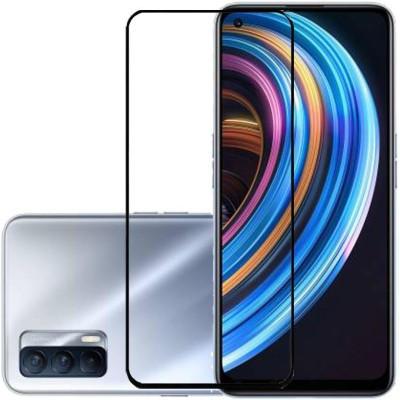 KARTRAY Edge To Edge Tempered Glass for Realme 8 Pro, Realme 8, Realme X7(Pack of 1)