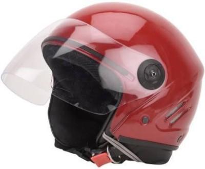 rdh RDH00 TRACK UNBREAKABLE Motorbike RED HELMET Motorbike Helmet(Red)