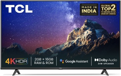 TCL P615 139 cm (55 inch) Ultra HD (4K) LED Smart Android TV with Dolby Audio(55P615)