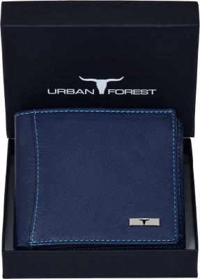 URBAN FOREST Men Blue Genuine Leather Wallet(6 Card Slots)