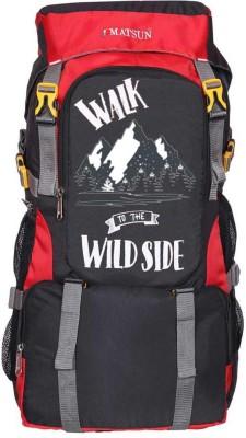 Matsun Travel bag trekking bag mountaineering bag Rucksack - 55 L(Black, Red)