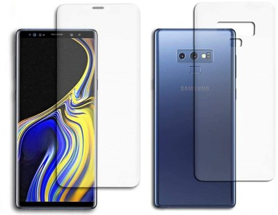 ELEF Front and Back Screen Guard for SAMSUNG Galaxy Note 9 Edge to Edge Membrane Screen Protecttor (Not Tempered Glass)(Pack of 2)