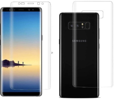 ELEF Front and Back Screen Guard for SAMSUNG Galaxy Note 8 Edge to Edge Membrane Screen Protecttor (Not Tempered Glass)(Pack of 2)