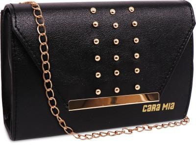 CARA MIA Black, Gold Sling Bag FRAGRANCE BLACK SLING BAG