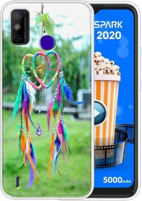Vascase Back Cover for Tecno Spark Go 2020(Multicolor, Dual Protection, Silicon)