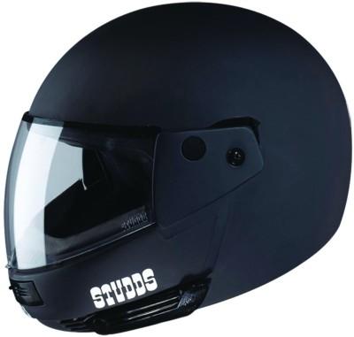 STUDDS Ninja Pastel Plain Motorsports Helmet(Matt Black)
