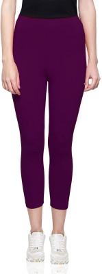 Janasya Ankle Length  Ethnic Wear Legging(Purple, Solid)