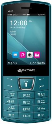 Micromax X816(Black + Teal)