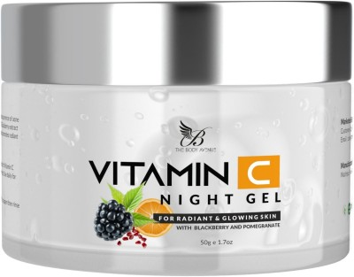 The Body Avenue Vitamin C Night Gel with Pomegranate & Blackberry for Clean, Hydrated & Smooth Skin(50 g)
