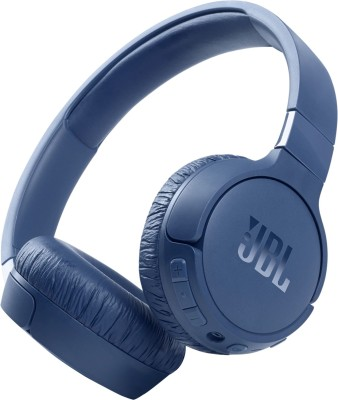 JBL Tune 660NC Active Noise Cancelling Bluetooth Headset(Blue, On the Ear)