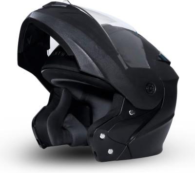 GoMechanic Anymal Series -Eagle Flip-Up with Clear Visor Motorsports Helmet(Black)