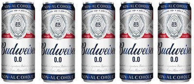 Budweiser Non Alcoholic Beer (Imported) 330ml(Pack of 5) Can(5 x 330 ml)