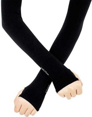 AFLOTO SELVES 193 Nylon, Cotton Arm Warmer(Black)