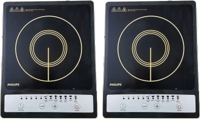 PHILIPS HD4920 pack of 2 Induction Cooktop(Black, Touch Panel)