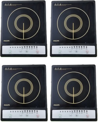 PHILIPS HD4920 pack of 4 Induction Cooktop(Black, Touch Panel)